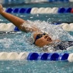 Girls Varsity Swimming falls to Olympia 151 – 149