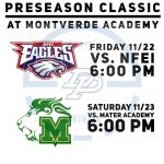 Varsity Basketball Preseason Classic at Montverde Academy, this Fri. 11/22 and Sat. 11/23