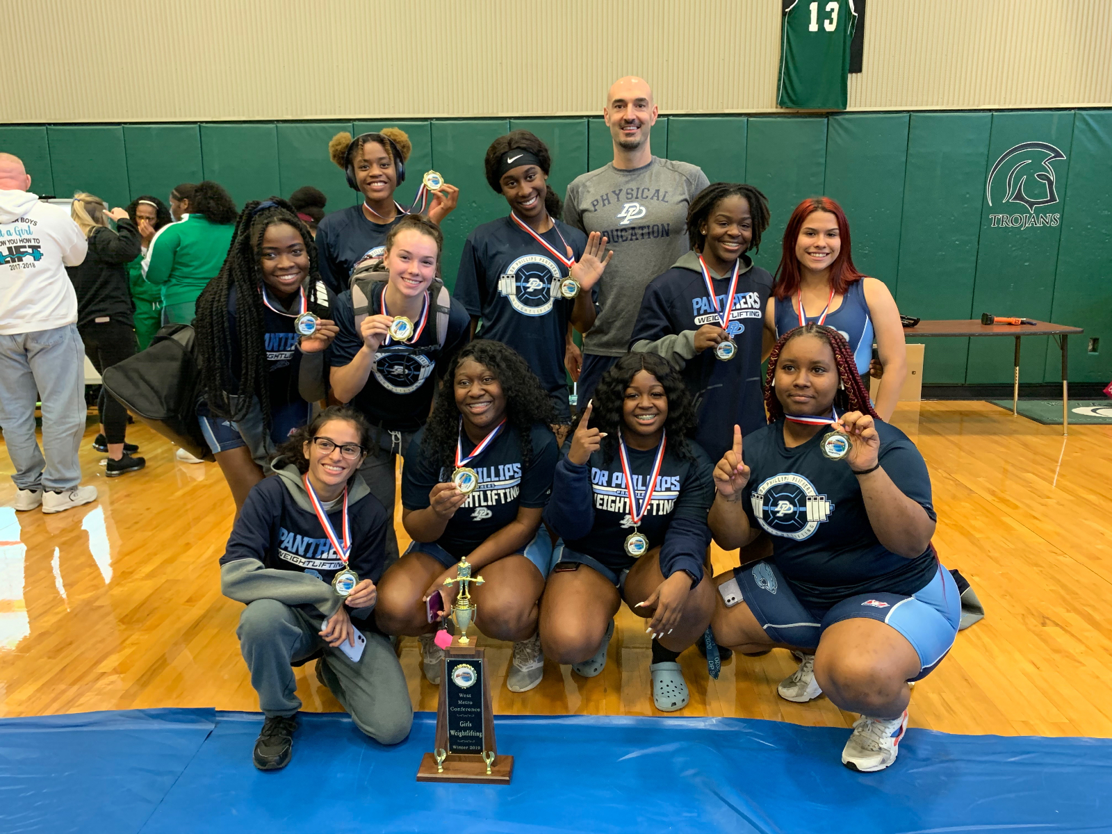 Girls Weightlifting continues to dominate by winning nine out of 10 weight classes to become District Champs!!!