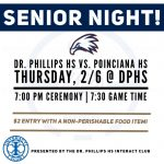 Thursday 2/6 Boys Basketball Senior Night and Non-Perishable Food Item  Fundraiser – Get in for $2.00