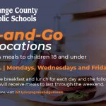 Updated Days & Hours for OCPS Facilities – Mon, Wed & Fri 9am – 2pm. Meal pickup 10am – 1pm