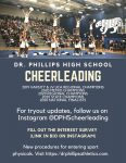 Cheerleading Tryouts Information Updates, follow on Instagram @DPHScheerleading