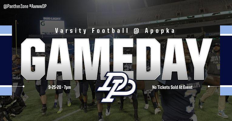 Varsity Football @ Apopka – No Tickets Sold – Game will be streamed at – https://varsitysportsnetwork.org/live-tv/orlando/