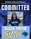 Congrats to Alicia Virthe to continue her volleyball career at St. Mary's University!