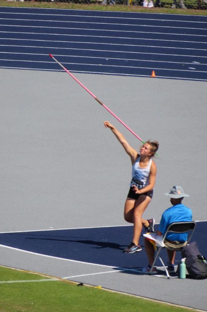 FHSAA State Track & Field Top Place Finisher,  Katelyn Pika Sophomore 8th place Girls Javelin.