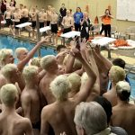 Boys Swim and Dive start conference Title Run