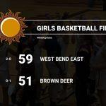 Girls Varsity Basketball beats Brown Deer 59 – 51