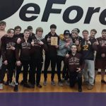 Boys Varsity Wrestling finishes 1st place at Invitational @ DeForest High School