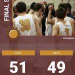 Boys Varsity Basketball beats West Bend West 51 – 49