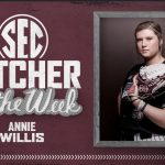 Former Westminster Standout, Annie Willis, named SEC Softball Pitcher of the Week