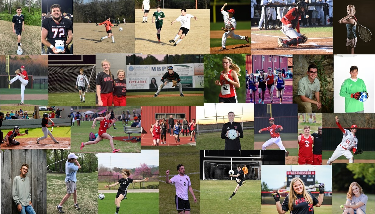 Features on spring sport senior athletes