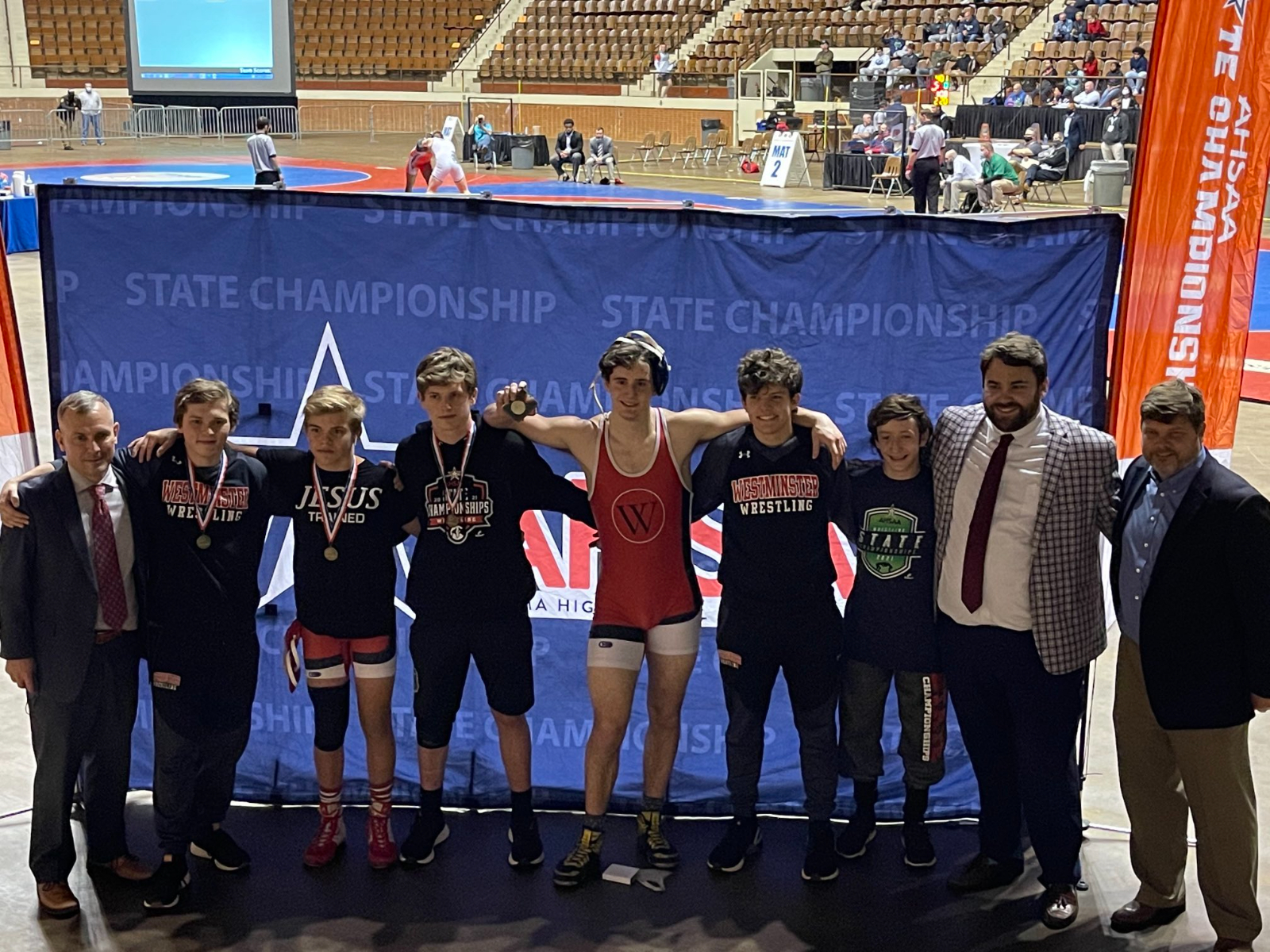 Wrestling finishes 4th in the State with 3 Individual Champions!