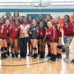 Lady Rams Volleyball Wins Bronze Championship Trophy at Hillcrest Tournament