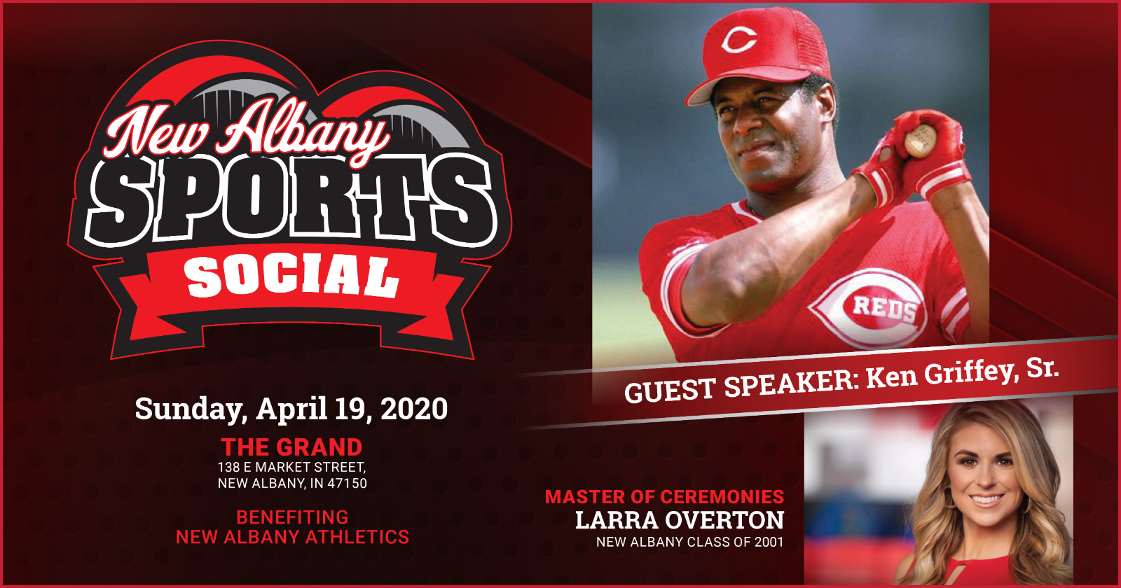 Ken Griffey, Sr., to headline first-ever New Albany Sports Social
