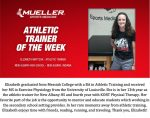 Trainer: Liz Mattson honored Athletic Trainer of the Week