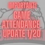 1/20 Event Attendance Update
