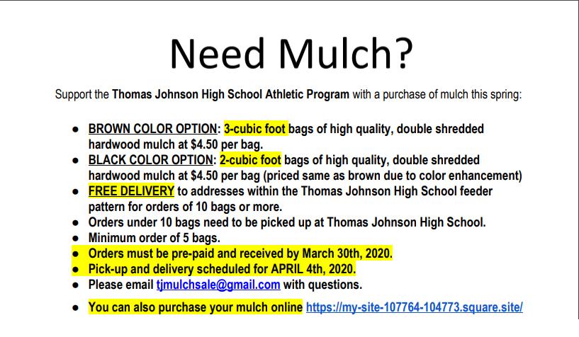 TJ Mulch Sale 2020!