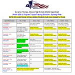 GTJHS Winter Sports 2020-21 Program Tryouts/Training Schedule