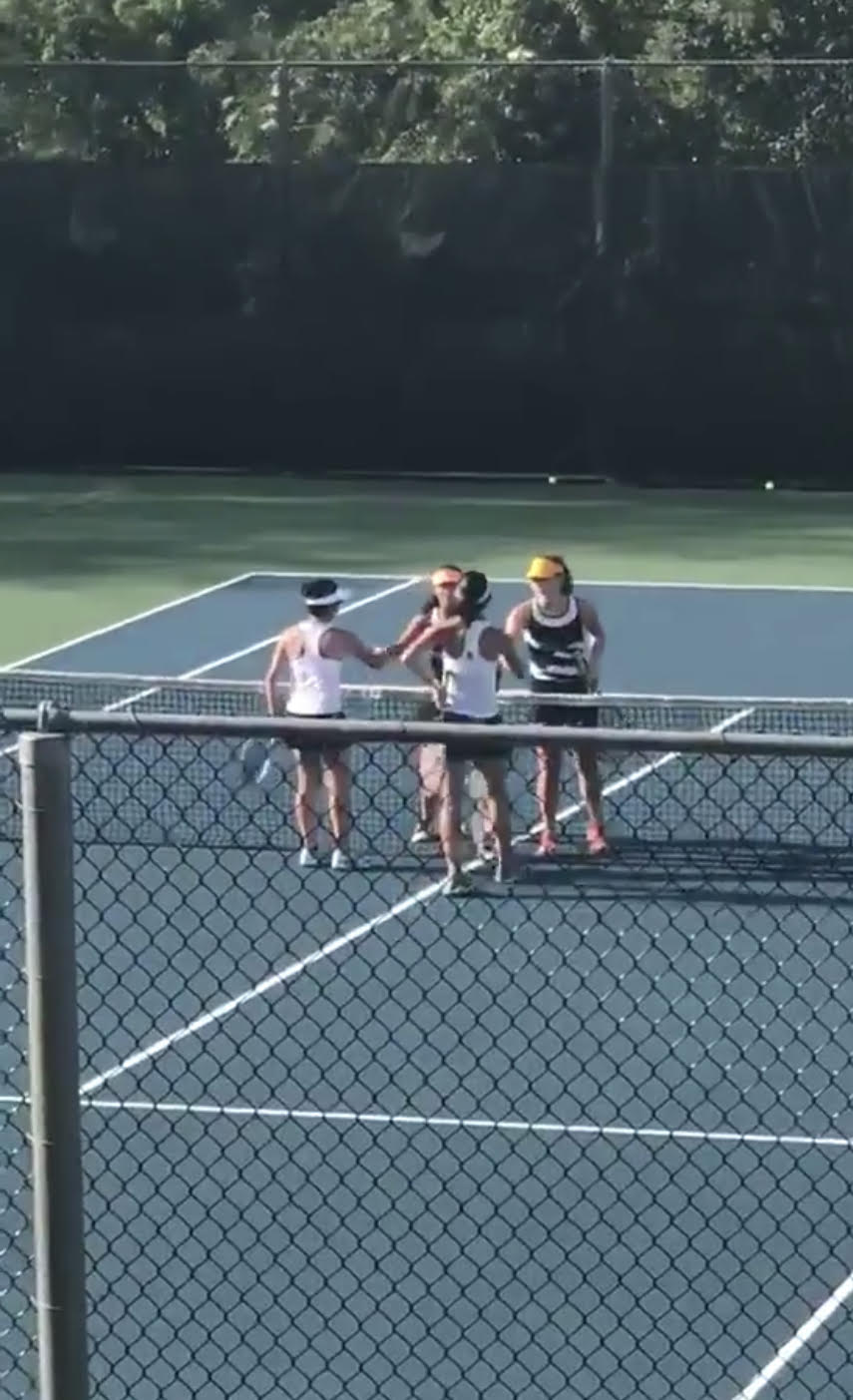 Girl's Tennis Clinches 1st Win 3-2 Over North Allegheny Under New Head Coach