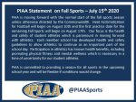 LATEST UPDATE FROM THE PIAA