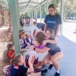 Volleyball Volunteering at Laurel Hill Elementary School