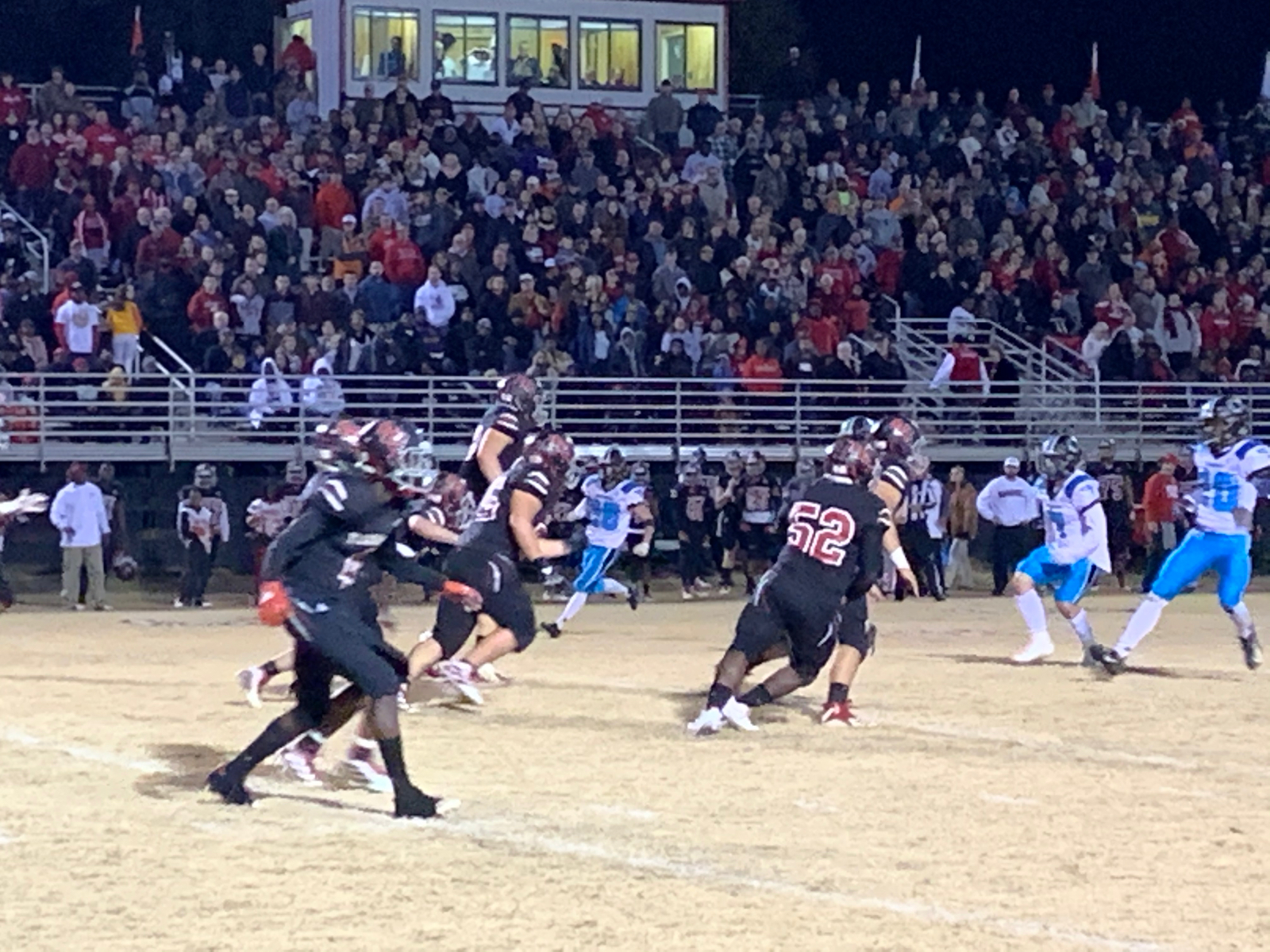 Football Is Down 9-21 v Barnwell at Halftime