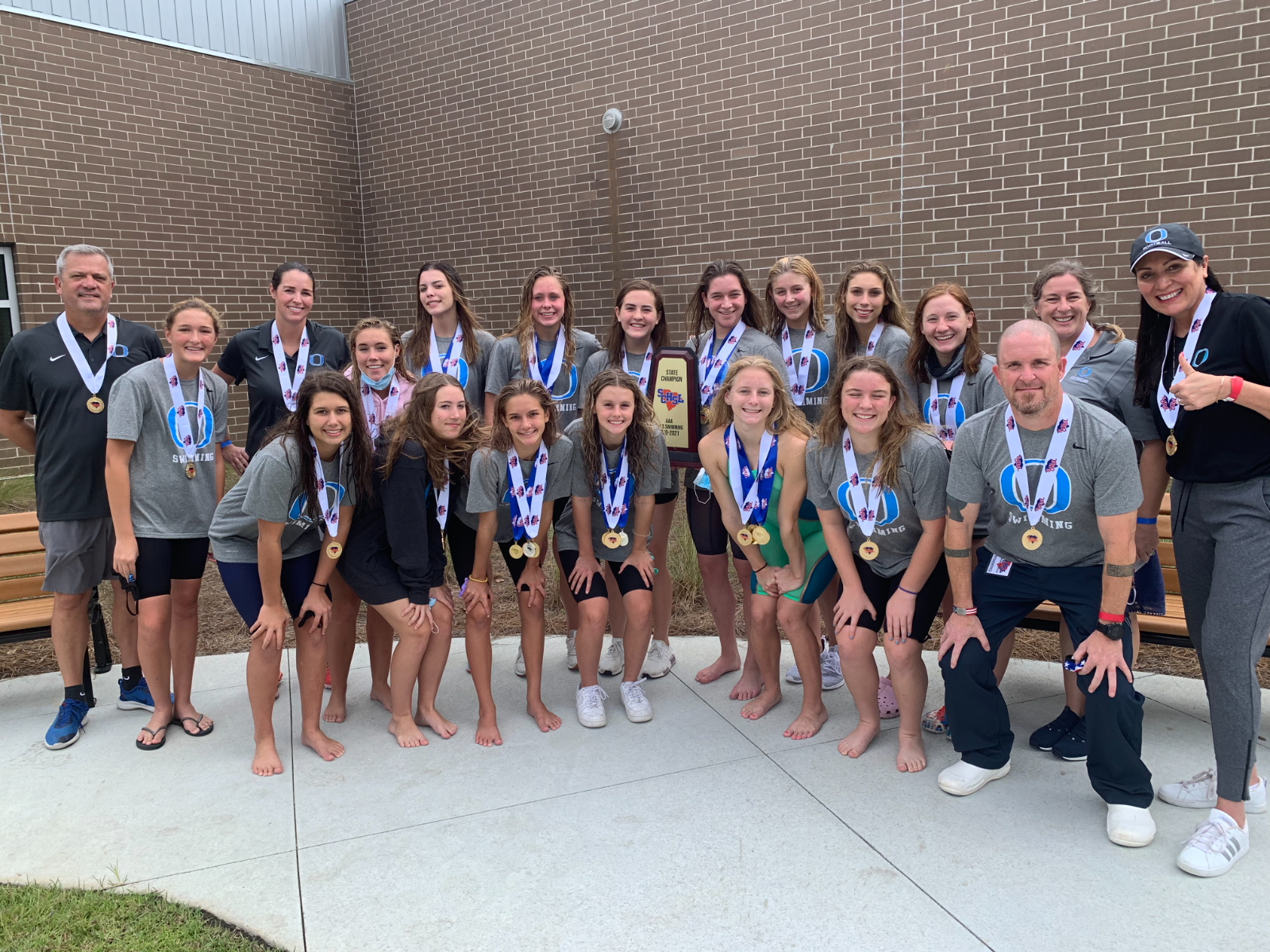 Girls Swimming Repeats at AAA State Champs!
