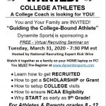 Free Virtual Recruiting Seminar 3/31 at 7:30 PM