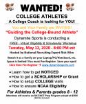 Free Virtual Recruiting Seminar 5/12 at 8:00 PM