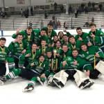 Saginaw Heritage Varsity Hockey wins the Scott Miller Memorial Tournament with 5-4 win over Toledo St. John