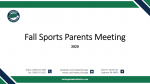 Fall Sports Parents Meeting Video