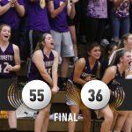 Warriorettes Varsity Basketball beats Mitchell 55 – 36