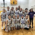 Warriorette 7th Grade Basketball beats Lanesville 55 – 50 to Win Scottsburg Invitiational