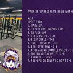 Warrior/Warriorette Home Workouts 2020 (4/13)