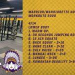 Warrior/Warriorette Home Workouts 2020 (4/14)