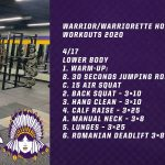 Warrior/Warriorette Home Workouts 2020 (4/17)