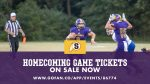 Homecoming Game Tickets on Sale Now