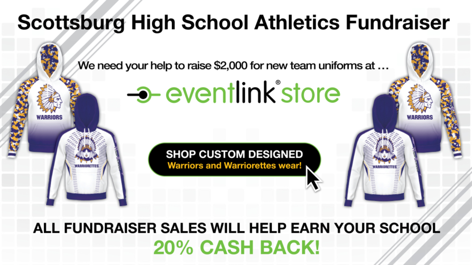 New Custom Scottsburg Gear Now Available in EventLink Store