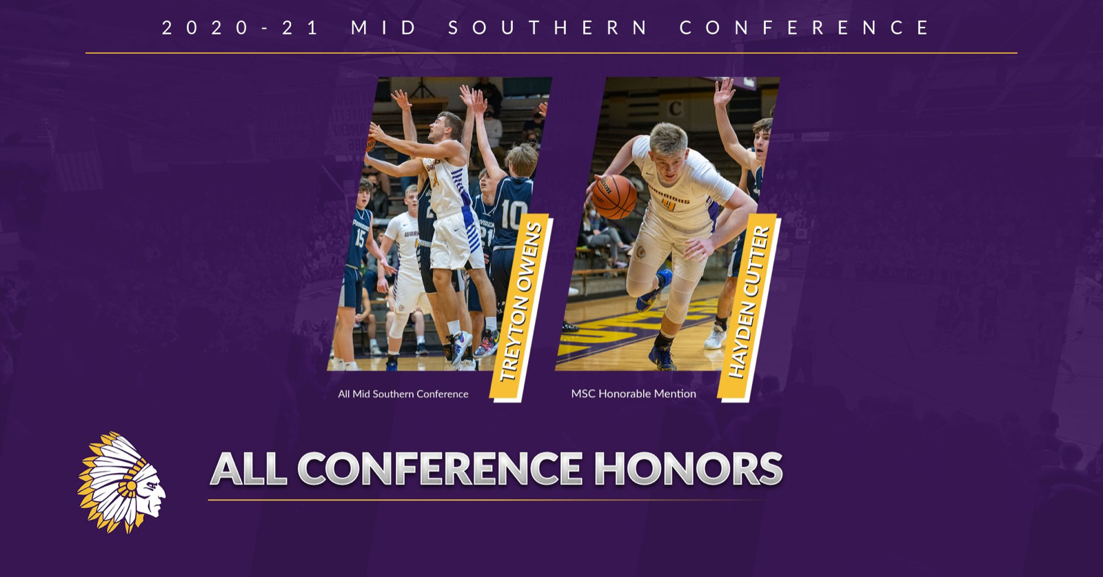 Owens, Cutter Garner 2020-21 Conference Honors