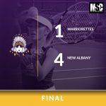 Warriorette Varsity Tennis falls to New Albany 4 – 1