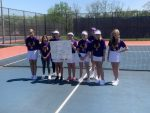 Girls Middle School Tennis finishes 1st place at MSC Tourney