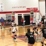 Hauser Varsity Volleyball Wins at Columbus Christian