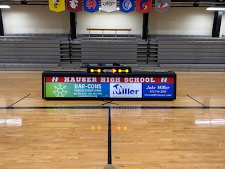 New Score Table for Hauser Gymnasium!