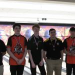 Boys Varsity Bowling finishes in 3rd place.  Paul Brandt finishes 3rd in individuals.