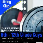 Lifting Club Starts Tuesday