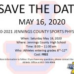 May 16 – Save the Date for Free Sports Physicals