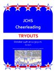 JCHS CHEERLEADING TRYOUTS October 23 & 24