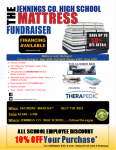 JCHS Mattress Fundraiser Saturday, March 6th