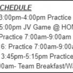 Football Fall Break Schedule