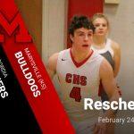 Marysville Basketball Reschedules 2/24/20